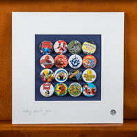 Retro Kids TV shows Badge Collection (Unframed)