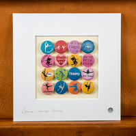 Dance Badge Collection (Unframed)