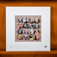 Marilyn Monroe Badge Collection (Unframed)