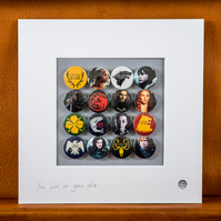 Game of Thrones Badge Collection (Unframed)
