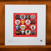 Marvel Badge Collection (Unframed)