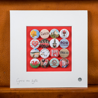 Wales Badge Collection (Unframed)