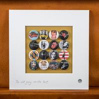 Music Legends Badge Collection (Unframed)