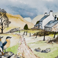 Mountain farm cottage  - Wheatears
