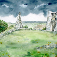 Hadleigh Castle - Storm Approaching