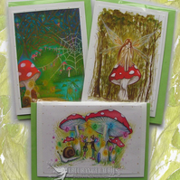 Toadstool Fairy Cards