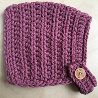 Pixie Hat - Baby size (up to 9 months) - Mellow Mauve