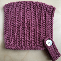 Pixie Hat - Small Child size (2 - 4 years) - Mellow Mauve