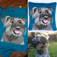 Pet Portrait Knitting Pattern Designed from your Own Photograph!