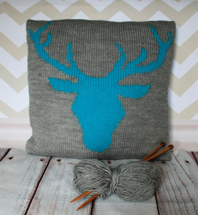 Beginner Knitting Pattern Pdf Stag Or Deer He Folksy