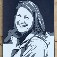 Custom papercut portrait 3 layer