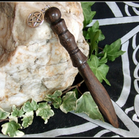 Elegant mini ritual Athame Woodturned and handcrafted from 5000 year old Bog Oak