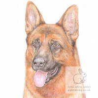 Rex the German Shepherd - Blank Card