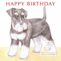 Alice the Miniature Schnauzer - Birthday Card
