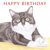 MIittens the Cat - Birthday Card