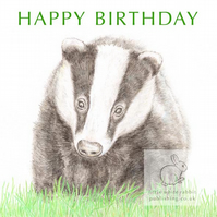 Badger - Birthday Card