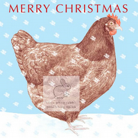 Brown Hen - Christmas Card