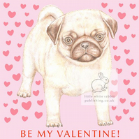 Titus the Pug -  Valentine Card