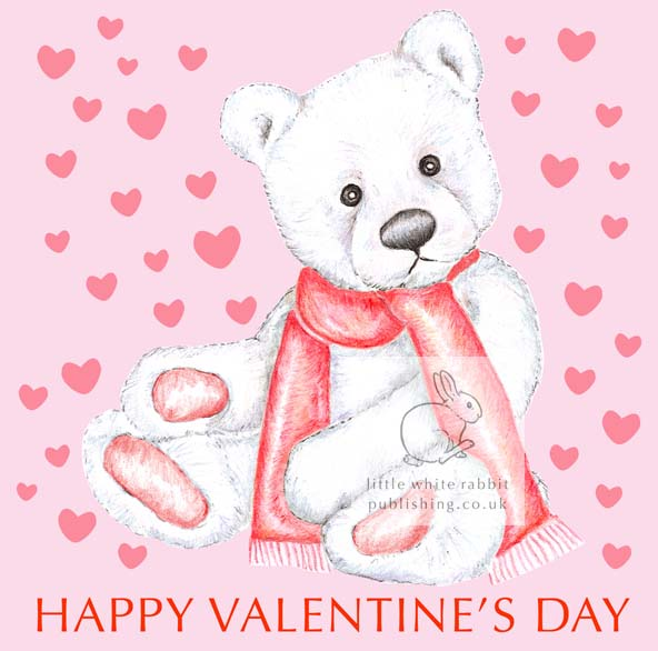 Chilly the Teddy Bear - Valentine Card