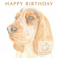 Humphrey the Cocker Spaniel - Birthday Card
