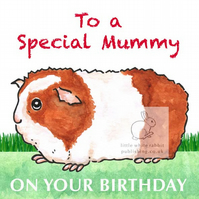 Gerry the Guinea Pig - Special Mummy Birthday Card