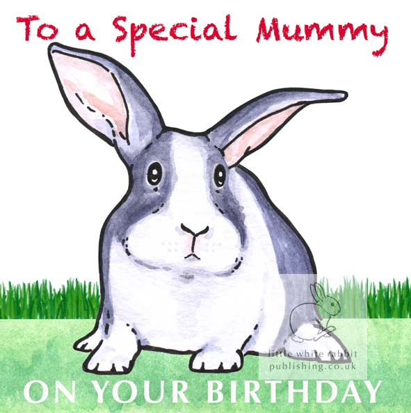 Hector the Rabbit - Special Mummy Birthday Card