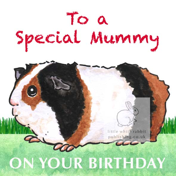 Ozzie the Guinea Pig - Special Mummy Birthday Card
