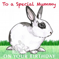 Patch the Rabbit - Special Mummy Birthday Card