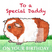 Gerry the Guinea Pig - Special Daddy Birthday Card