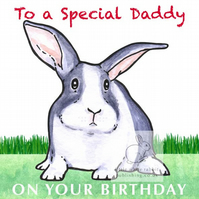 Hector the Rabbit - Special Daddy Birthday Card