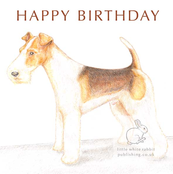 Bob the Fox Terrier - Birthday Card
