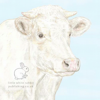 Jacqueline the Cow - Blank Card
