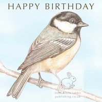 Coal Tit - Birthday Card