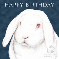 Mr C the White Rabbit - Birthday Card