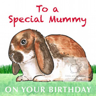 Sherry the Rabbit - Special Mummy Birthday Card