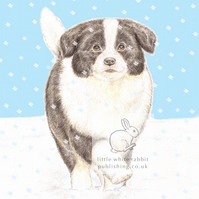 Rosie in the Snow - Blank Card