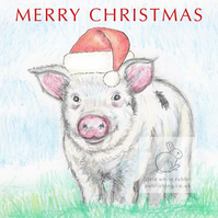 Piggy - Christmas Card