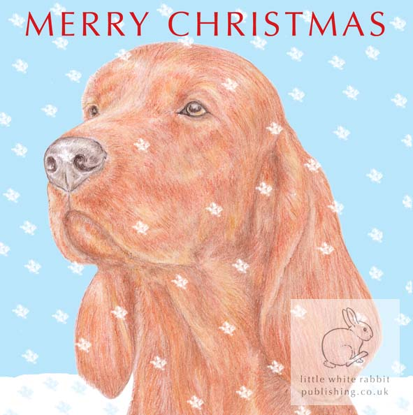 Woody the Irish Setter - Christmas Card