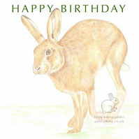 Running Hare - Birthday Card