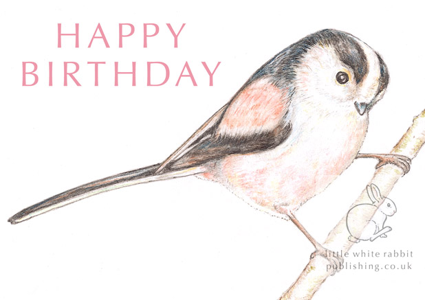 Long-tailed Tit - Birthday Card