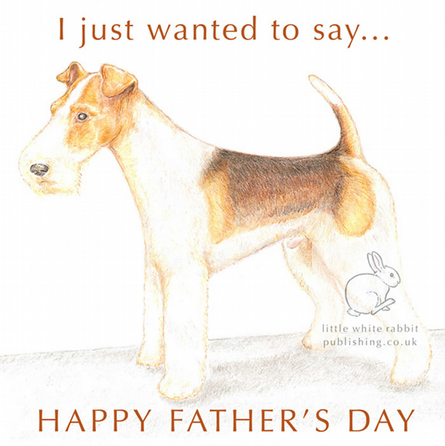 Bob the Fox Terrier - Father's Day Card