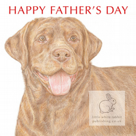 Bruno the Chocolate Labrador - Father's Day Card