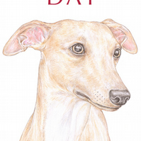 Oscar the Whippet - Father's Day Card