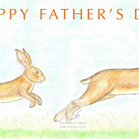 Hares - Father's Day Card
