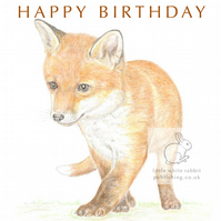 Fox Cub - Birthday Card