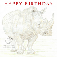 Rhino - Birthday Card