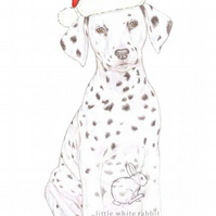 Dot the Dalmatian - Christmas Hat Card