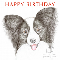 Fleur the Papillon - Birthday Card