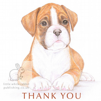 Jake the Boxer - Thank You Card