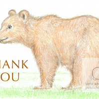 Billy the Brown Bear - Thank You Card